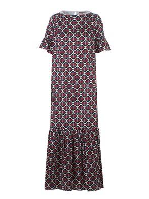 FAY - LONG DRESS WITH GEOMETRIC PATTERN