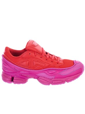 ADIDAS BY RAF SIMONS - RED AND PURPLE OZWEEGO SNEAKERS