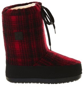 WOOLRICH - MOON BOOT ROSSO E NERO