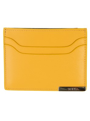 TOD'S - YELLOW CARD HOLDER