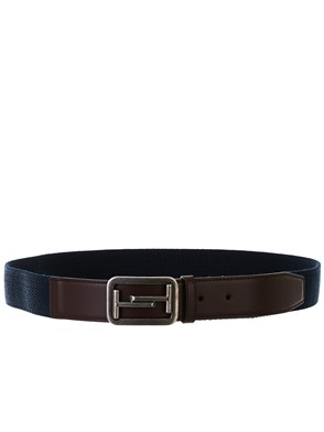 TOD'S - BROWN AND BLUE BELT