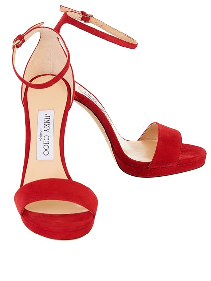 jimmy choo RED MISTY SANDALS available