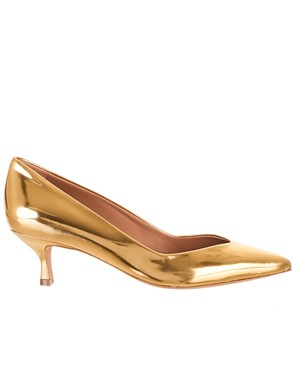 GOLDEN GOOSE DELUXE BRAND - GOLD VALERIE PUMPS