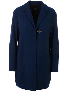 FAY - BLUE JACQUARD DUSTER COAT