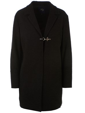 FAY - BLACK JACQUARD DUSTER COAT