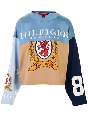 HILFIGER COLLECTION - MULTICOLOR FOOTBALL T-SHIRT