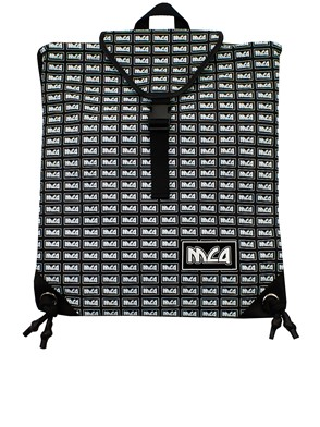McQ BY ALEXANDER MCQUEEN - BLACK AND WHITE BACKPACK