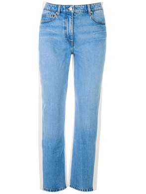 KENZO - WHITE AND LIGHT BLUE JEANS