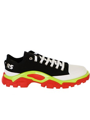 ADIDAS BY RAF SIMONS - BLACK AND WHITE DETROIT RUNNER SNEAKERS