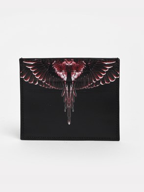 MARCELO BURLON COUNTY OF MILAN - BLACK RED GHOST WINGS CARD HOLDER