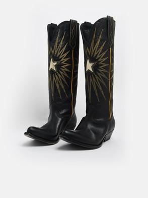 GOLDEN GOOSE DELUXE BRAND - BLACK WISH STAR BOOTS