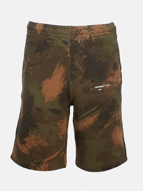 OFF WHITE - PANTALONCINO PAINTBRUSH CAMOUFLAGE