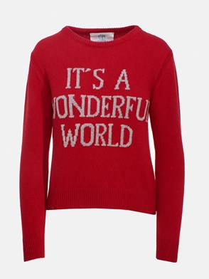 ALBERTA FERRETTI - RED SWEATER