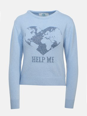 ALBERTA FERRETTI - LIGHT BLUE �HELP ME� SWEATER