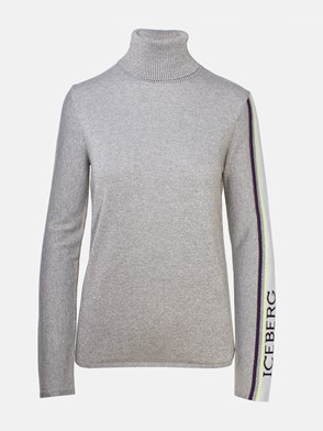 ICEBERG - GREY GLITTERY TURTLENECK