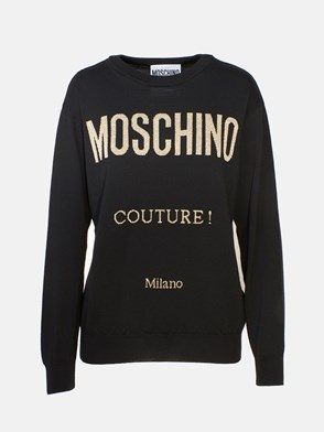 MOSCHINO - BLACK 100 KNIT SWEATER