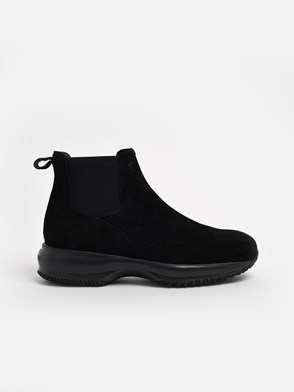 HOGAN - BLACK INTERACTIVE CHELSEA ANKLE BOOTS