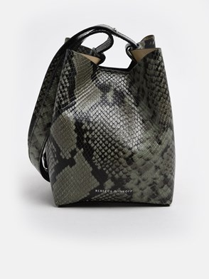 REBECCA MINKOFF - SNAKEPRINT KATE BUCKET BAG