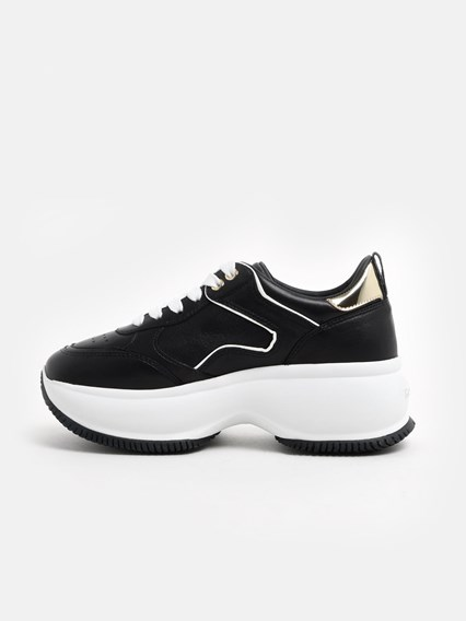 hogan BLACK AND WHITE MAXI ACTIVE SNEAKERS available on www ...