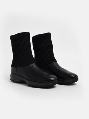 HOGAN - BLACK INTERACTIVE BOOTS