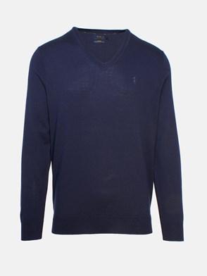 POLO RALPH LAUREN - BLUE V-NECK SWEATER