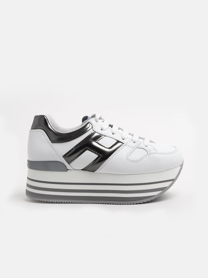 hogan SILVER MAXI SNEAKERS available on www.lungolivignofashion ...