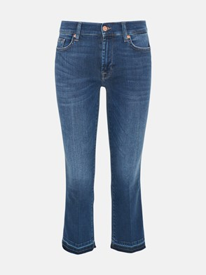 7 FOR ALL MANKIND - BLUE SLIM BOOT JEANS