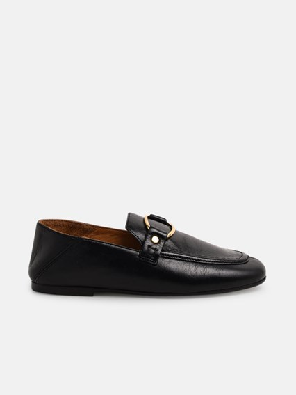 ISABEL MARANT BLACK FERLY LOAFERS - COD. 19AMC0033-19A044S    01BK