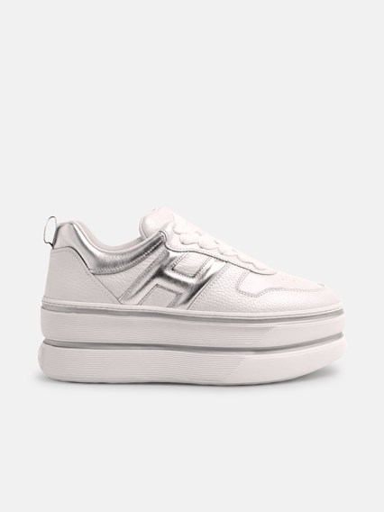 hogan WHITE MAXI CASSETTA SNEAKERS available on www ...