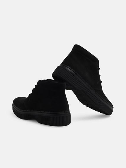 TOD'S BLACK LACED BOOTS - COD. XXM39A00D80HSE       B999