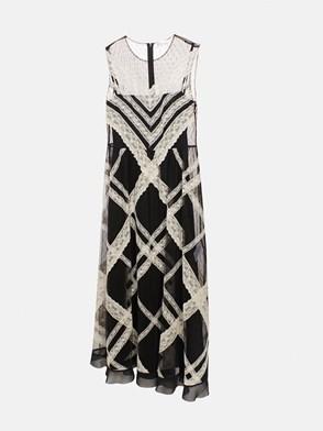 REDVALENTINO - BLACK LACE DRESS