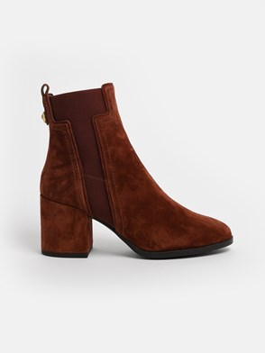TOD'S - BROWN ANKLE BOOTS