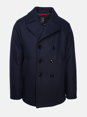 FAY - BLUE WOOL SHORT COAT