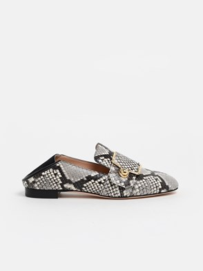 BALLY - SNAKE PRINT MAELLE LOAFERS
