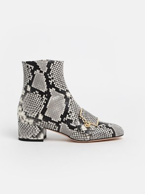 BALLY - SNAKE-PRINT MAGGYE ANKLE BOOTS