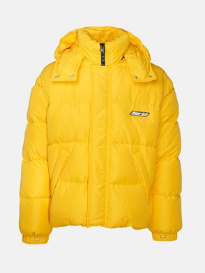 MSGM - YELLOW HOODED SHORT DOWN JACKET