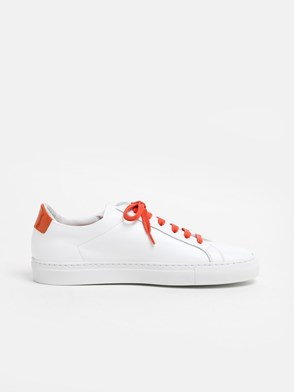 COMMON PROJECTS - WHITE AND ORANGE ACHILLIES SNEAKERS