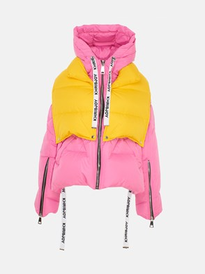 KHRISJOY - YELLOW AND PINK KHRIS PUFFER DOWN JACKET