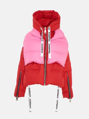KHRISJOY - RED AND PINK KHRIS PUFFER DOWN JACKET