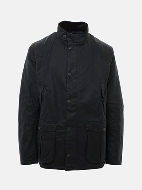 BARBOUR - BLUE LEAWAARD HEAVY COAT