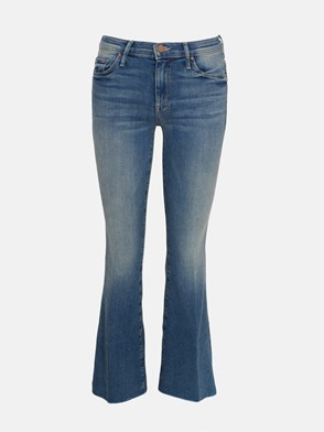 MOTHER - JEANS WEEKENDER FRAY BLU