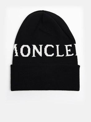 MONCLER - BLACK BEANIE