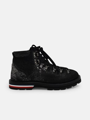 MONCLER - BLACK GLITTER BLANCHE ANKLE BOOTS