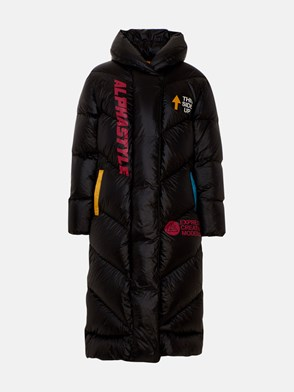 ALPHASTYLE - BLACK CAPPY PUFFER DOWN JACKET