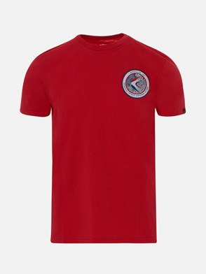 ALPHA INDUSTRIES - T-SHIRT ROSSA
