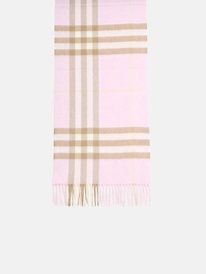 BURBERRY - SCIARPA MU GIANT CHECK ROSA
