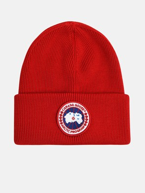 CANADA GOOSE - RED ARTIC LADIES BEANIE