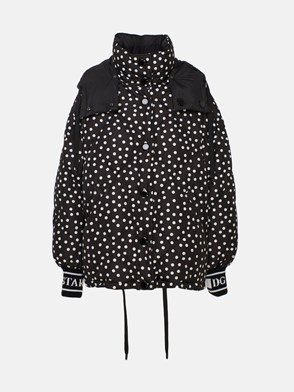 DOLCE & GABBANA - BLACK POLKA DOT DOWN JACKET