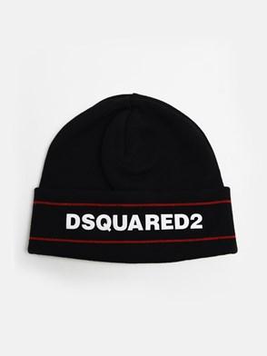 DSQUARED2 - BLACK BEANIE