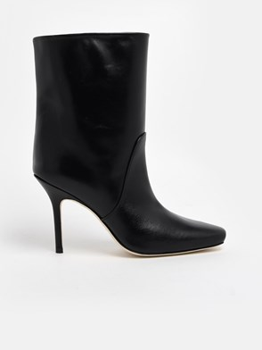 STUART WEITZMAN - BLACK SMOOTH ANKLE BOOTS